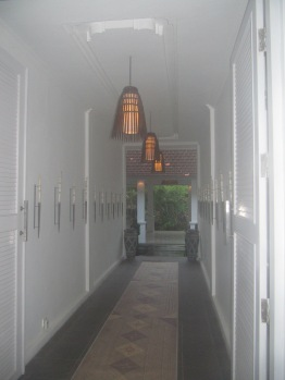 Hallway to courtyard entrance.