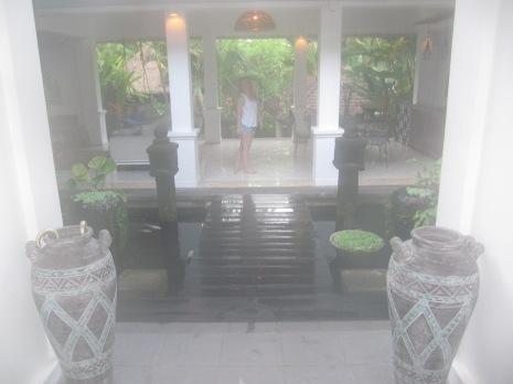 View into villa.