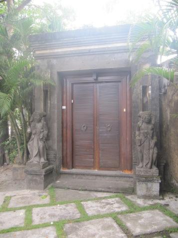 Door that opened onto the street.